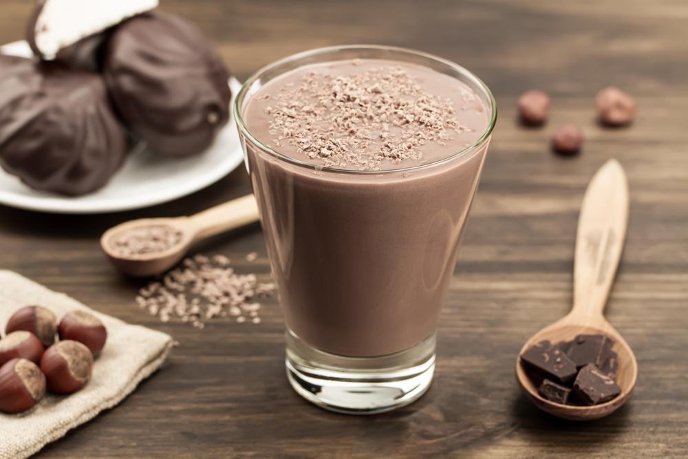 smmothie de chocolate com maca peruana